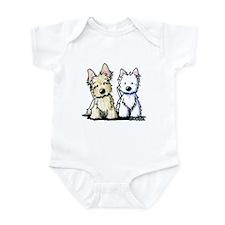 KiniArt Terriers Infant Bodysuit