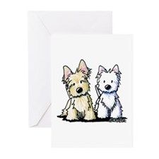 KiniArt Terriers Greeting Cards (Pk of 20)