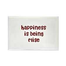 happiness is being Elise Rectangle Magnet