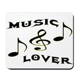 MUSIC LOVER/MOUSE PAD
