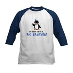 Big Brother to be - Penguin Kids Baseball Jersey