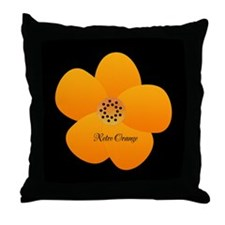 Sunny Bright Fluffy Flower Holiday Retro Throw Pil