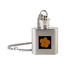 Sunny Bright Fluffy Flower Holiday Retro Flask Nec