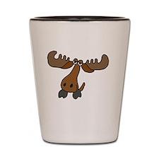 Moose Cartoon Shot Glass