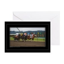 Racehorses on the Run Greeting Cards (Pk of 10