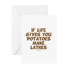 Make Latkes Chanukah Card Greeting Cards