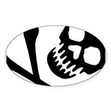 CROSSBONES Oval Decal