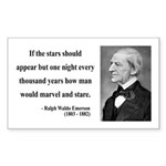 Ralph Waldo Emerson 5 Rectangle Sticker