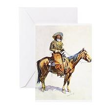 Frederic Remington Arizona Cowboy Greeting Cards