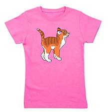 Orange Kitten Girl's Tee