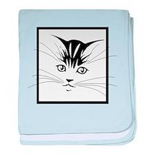 Kitten Face baby blanket