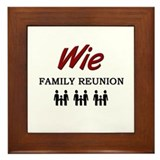 Wie Family Reunion Framed Tile
