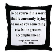 Ralph Waldo Emerson 4 Throw Pillow