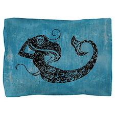 Worn Mermaid Pillow Sham