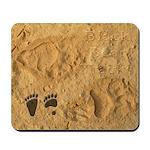 Black Bear Tracks Mousepad
