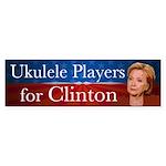 Ukulele Players For Clinton Bumper Sticker