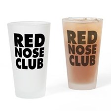 Red Nose Club Drinking Glass