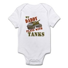 Daddy Plays with Tanks Onesie