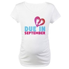 Due in (Month) Baby Footprints Shirt