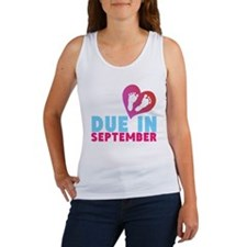 Due in (Month) Baby Footprints Tank Top