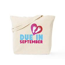 Due in (Month) Baby Footprints Tote Bag