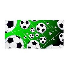 Soccer Field Beach Towel