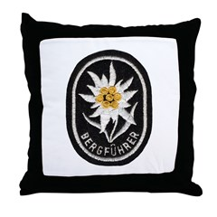Bergfuhrer Mountain Troops Throw Pillow