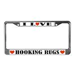 Rug Hooking License Plate Frame