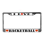 Racketball License Plate Frame