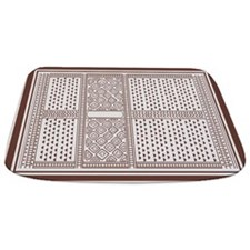 German Tile Brown And Creme Bath Mat Bathmat