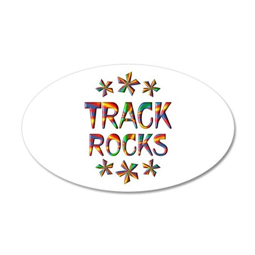 Track Rocks 20x12 Oval Wall Decal