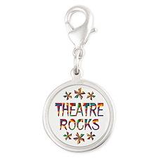 Theatre Rocks Silver Round Charm