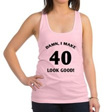 Unique 40th Racerback Tank Top