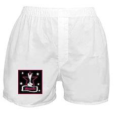 Pink and Black Cheerleader Boxer Shorts
