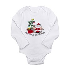 Cute Cute xmas Long Sleeve Infant Bodysuit