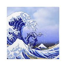 Monogram O Surf's Up! Queen Duvet