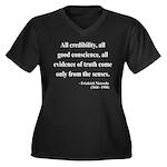 Nietzsche 27 Women's Plus Size V-Neck Dark T-Shirt
