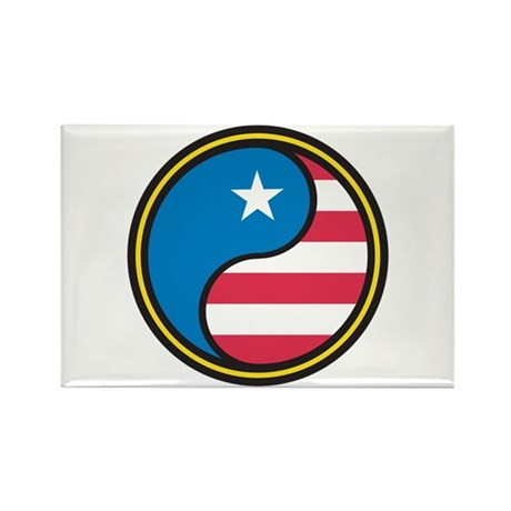 American Yin Yang Rectangle Magnet