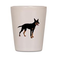 Australian Kelpie Dog Shot Glass