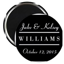"""Personalized Black and Whi 2.25"""" Magnet (100 pack)"""