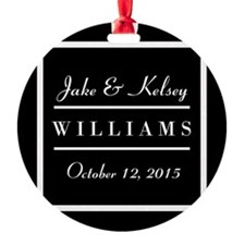 Personalized Black and White Family Ornament