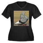 Teager Flight Women's Plus Size V-Neck Dark T-Shir