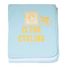 C Is For Cycling baby blanket