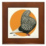 Orange Teager Flight Framed Tile