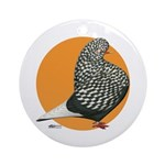 Orange Teager Flight Ornament (Round)