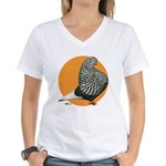 Orange Teager Flight Women's V-Neck T-Shirt
