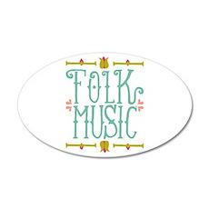 Folk Music Wall Decal