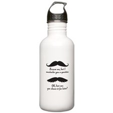 I mustache you... Water Bottle