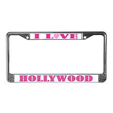 I Love Hollywood License Plate Frame