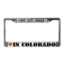 Colorado Love License Plate Frame
